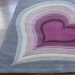 nuLOOM Handmade Deco Kids Multi Heart Rug (3'6 x 5'6)