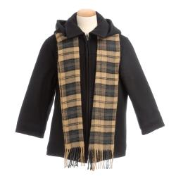 Brian Mathews Boy's Charcoal Wool-blend Jacket