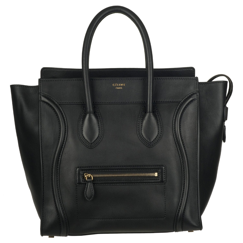celine black leather travel bag