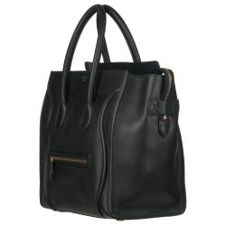 celine pink luggage tote - Celine Black Leather Luggage Tote Bag - 13806354 - Overstock.com ...