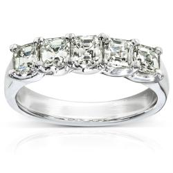10k White Gold 1 1/2ct TDW Diamond Wedding-style Band (J-K, VVS1-VVS2)