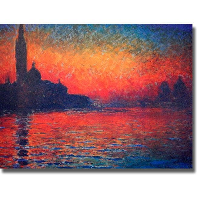 Claude Monet 'Twilight' Canvas Art