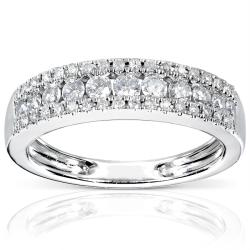 14-karat White-gold 1/2-carat TDW Diamond Band (H-I, I1-I2) 