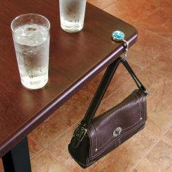 Clear Blue Crystal Handbag Hanger