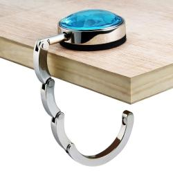 Clear Blue Crystal Handbag Hanger