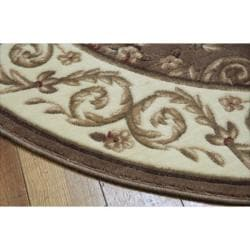 Nourison Summerfield Brown Rug (5'6 Round)