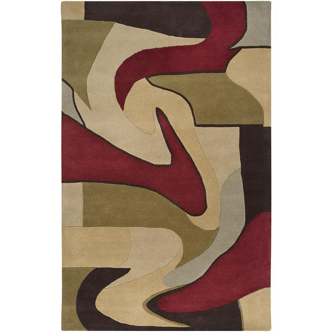 Hand-tufted Ray Wool Rug (10' x 14')