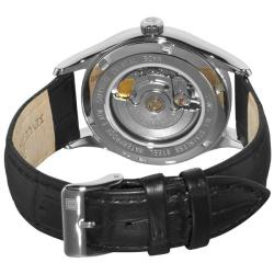 Revue Thommen Men's 'Heritage' Black Leather Strap Automatic Watch