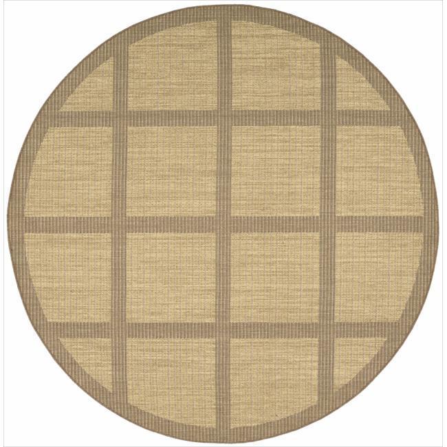 Nourison Patio Indoor/Outdoor Honey Brown Rug (7'9 x 7'9) Round