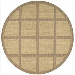 Nourison Patio Indoor/Outdoor Honey Brown Rug (7'9 x 7'9) Round