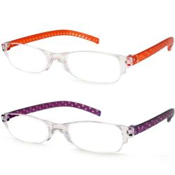 Urban Eyes Lucite Readers Dots Women's Reading Glasses (Pack of 2)