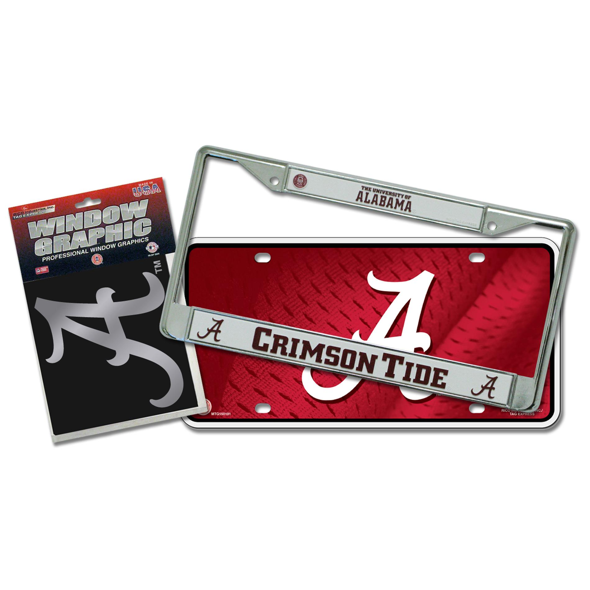 Alabama Crimson Tide Automotvie Detail Pack