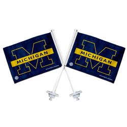 Michigan Wolverines Truck Flags (Set of 2)
