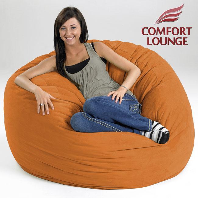 Comfort Lounge Melon Medium-size Memory Foam Lounge Bag