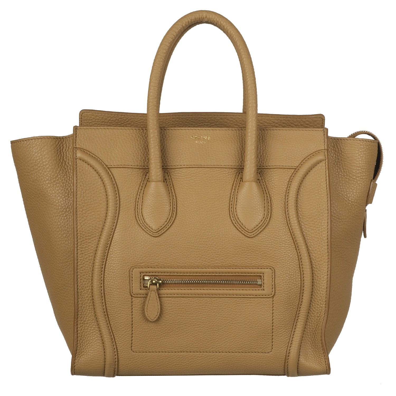 celine shopping bag price - Celine Camel Leather Luggage Bag Tote - 13812237 - Overstock.com ...