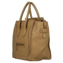 Celine Camel Leather Luggage Bag Tote - 13812237 - Overstock.com ...
