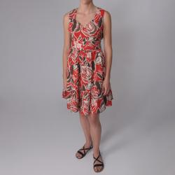 Journee Collection Women's Sweeheart Neckline Multi-print Dress