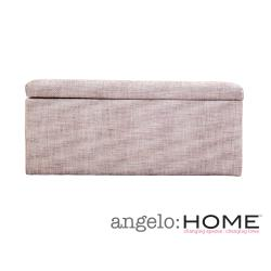 angelo:HOME Kent Walnut Brown Wall Hugger Storage Ottoman