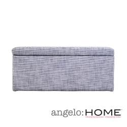 angelo:HOME Kent Silver Grey Wall Hugger Storage Ottoman