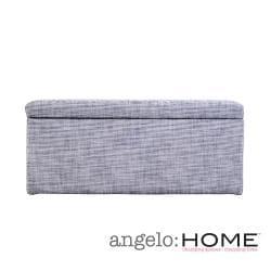 angelo:HOME Kent Silver Grey Wall Hugger Storage Ottoman