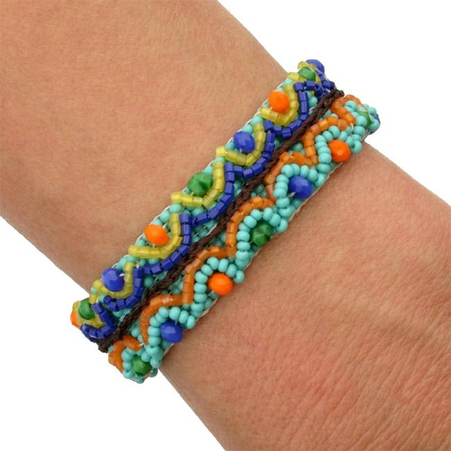 Corina Confetti-Colored Bead Bracelet (Guatemala)