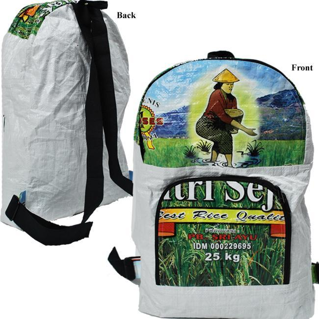 Recycled Rice Bag Backpack (Indonesia)
