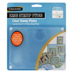 Fiskars Easy Clear Stamp 6x8-inch Press Plates (Set of 2)