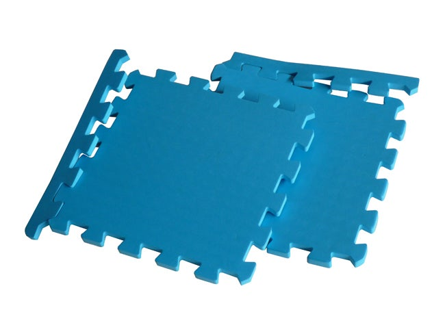 TNT Blue Foam Exercise Gym Floor Mats Set