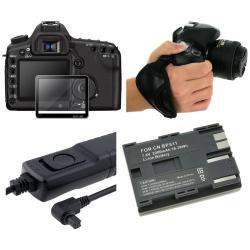 LCD Glass/ Remote/ Battery/ Hand Strap for Canon 40D/ 50D/ 5D Mark II