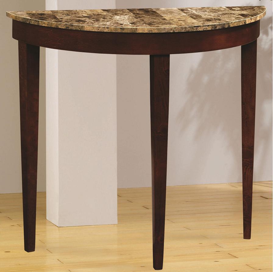 Rowland Faux Marble Half Moon Sofa Console Table
