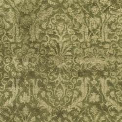 Safavieh Handmade Silk Road Majestic Green/ Ivory N. Z. Wool Rug (5' x 8')