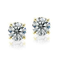 14k Yellow Gold 3/4ct TDW Certified Diamond Stud Earrings (H-I, SI1-SI2)