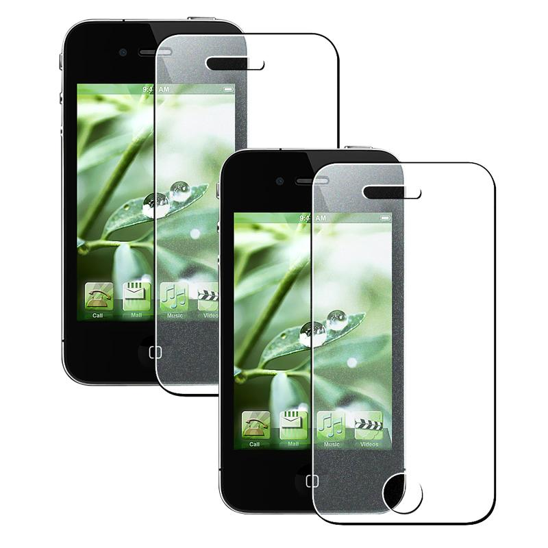 Colorful Diamond Screen Protector for Apple iPhone 4 (Pack of 2)