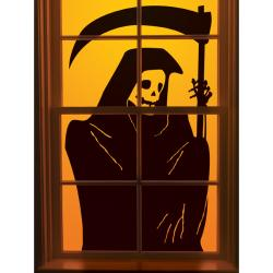 Grim Reaper Window Cling 1/Pkg
