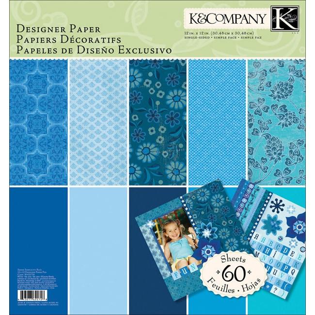 K & Company Blue Sheer Simplicity Designer Paper Pad
