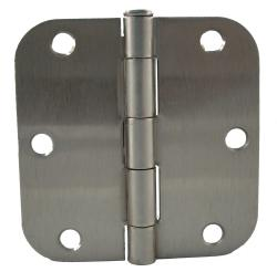 GlideRite 3.5-inch x 5/8-inch Radius Satin Nickel Door Hinges (Case of 24)