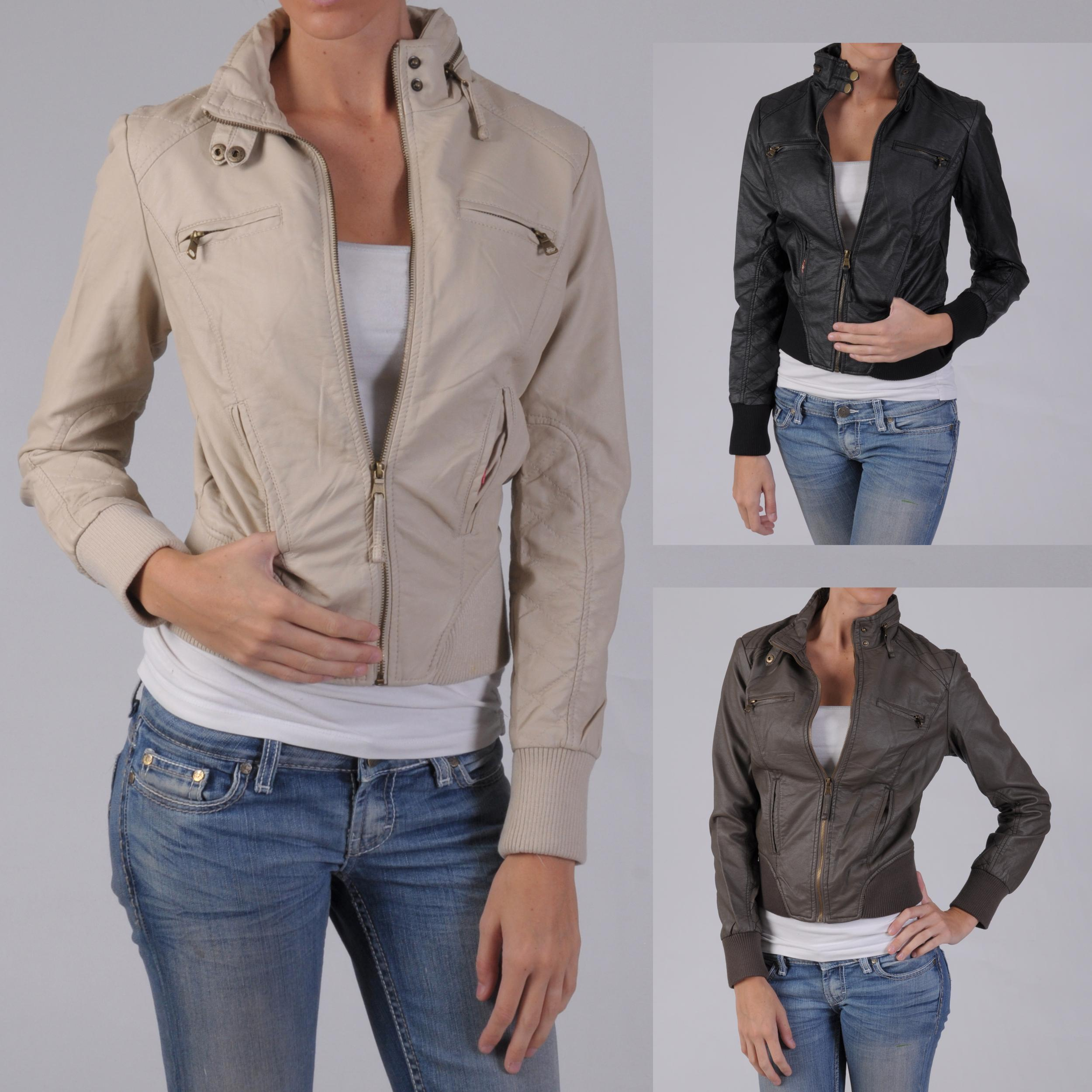 Ci Sono by Journee Junior's Zippered Faux Leather Jacket