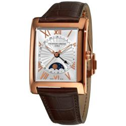 Frederique Constant Men's 'Carree Moonphase Date' Goldplated Watch