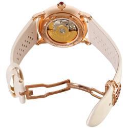 Frederique Constant Women's 'Automatic' White Satin Strap Watch
