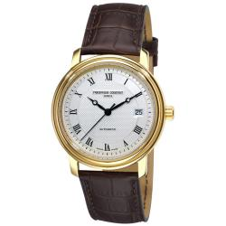 Frederique Constant Men's 'Classics Automatic' Brown Strap Watch