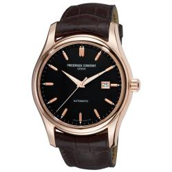Frederique Constant Men's 'Clear Vision Automatic' Leather Strap Watch