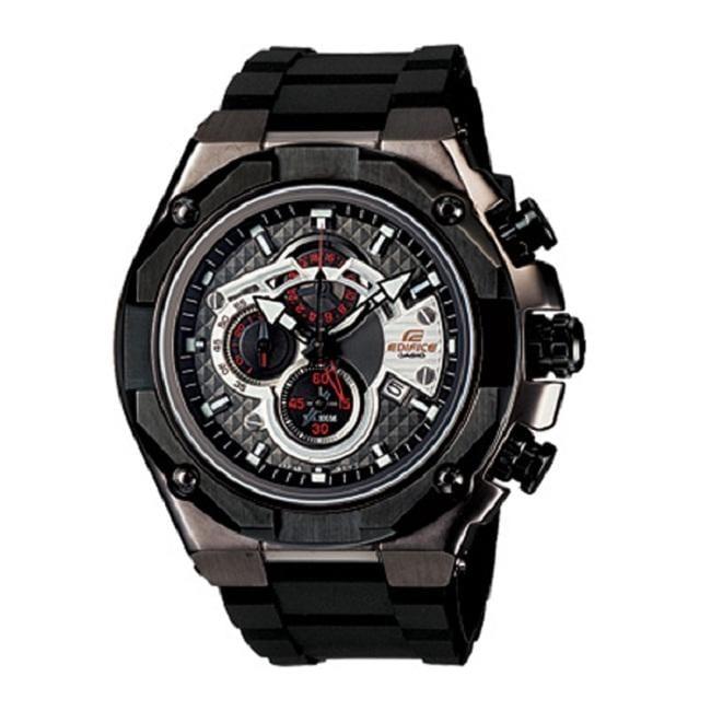 Casio Men's 'Edifice Gold Label' Dual Time Chronograph Watch