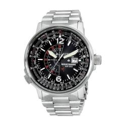 Citizen Men's Eco-Drive Nighthawk Stainless Steel Watch