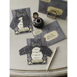 Martha Stewart Witch/Owl Invitations (Pack of 6)