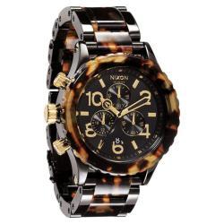 Nixon Women's A037679-00 Chronograph Tortoise Quartz Plastic Bracelet Watch