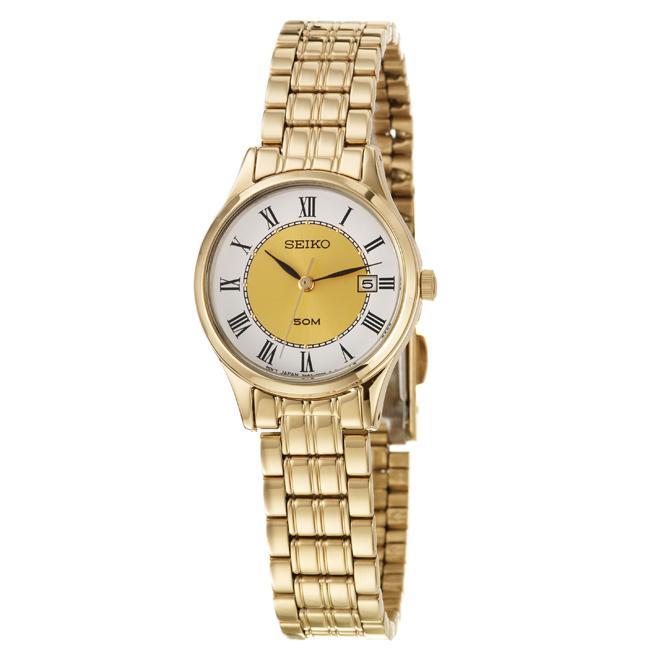 Seiko Women's 'Bracelet' Yellow Goldplated Stainless Steel Quartz Watch
