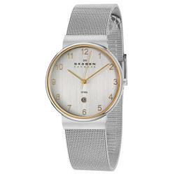 Skagen Men's 'Mesh' Stainless Steel Quartz Date Watch