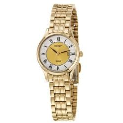 Seiko Women's 'Bracelet' Yellow Goldplated Stainless Steel Quartz Watch