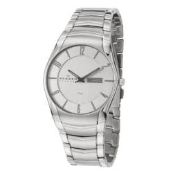 Skagen Men's 'Classic' Stainless Steel Quartz Date Watch
