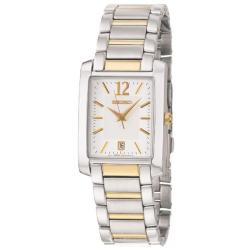 Seiko Men's 'Bracelet' Stainless and Yellow Goldplated Steel Quartz Date Watch
